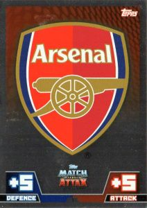 Card showing Arsenal 8290aa21629